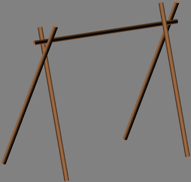 Wooden Frame For Basha